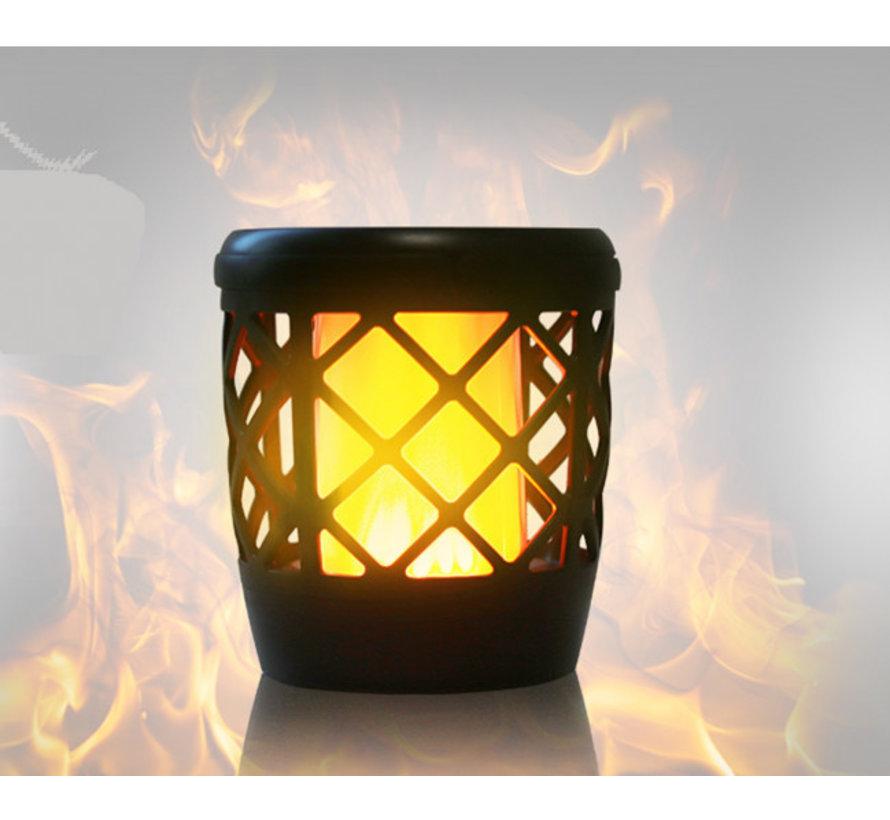 Tuinfakkel Solar - Fakkel met Vlameffect - Tuinverlichting met Zonnepaneel en USB aansluiting