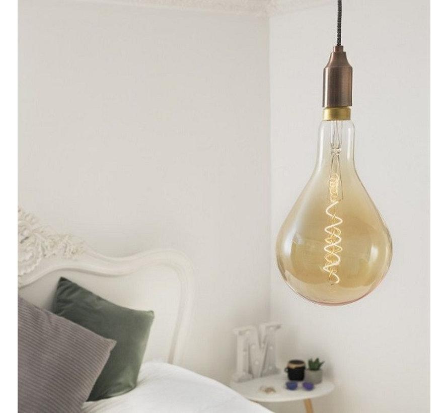 XXL Megaglobe LED 30 cm - PS160 Filament lamp Goud - E27 Giant Dimbaar 6W - Oversized Giant Spiral Bulb
