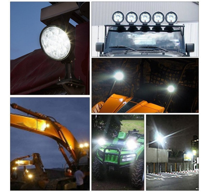 42W 12V-24V Werklamp Rond EMC voor Voertuigen