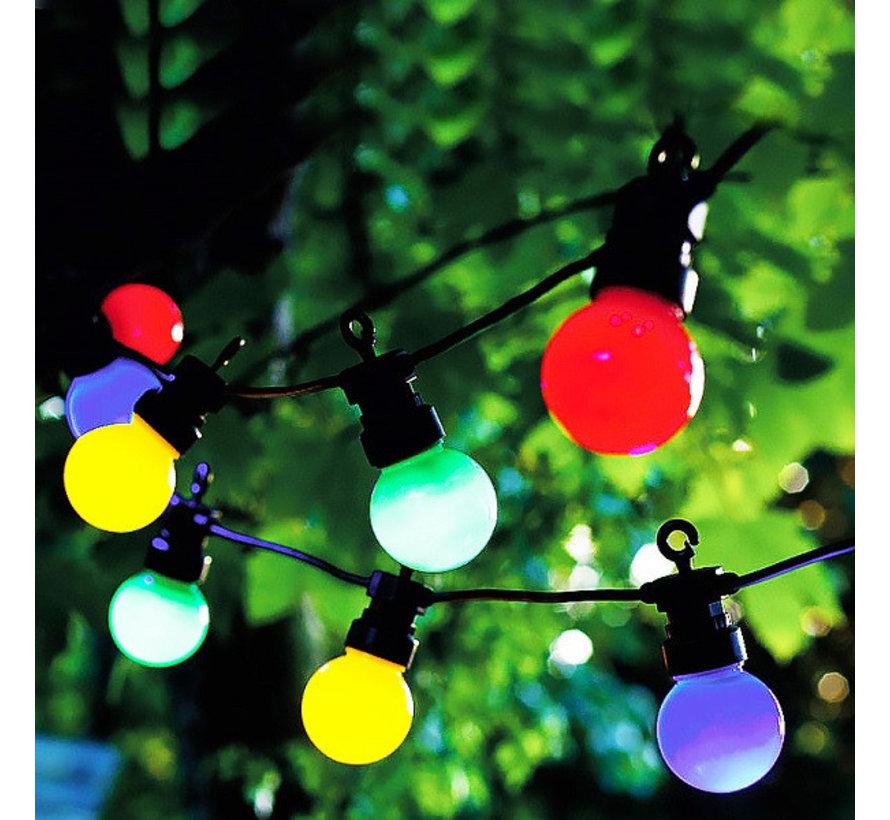 Feestverlichting Prikkabel 10 Meter 20 Gekleurde Lampen