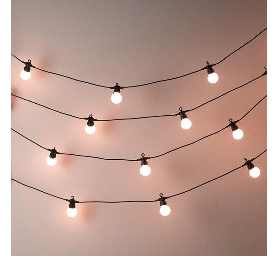 Feestverlichting Prikkabel 10 Meter 20 Lampen Warm licht