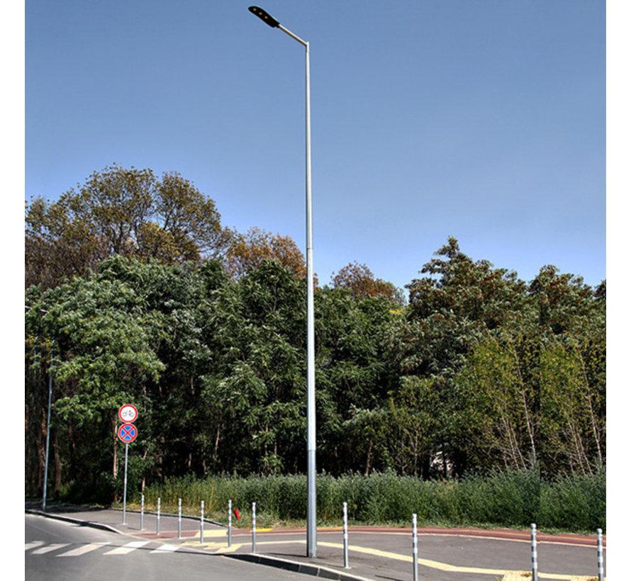 Lichtmast / Lantaarnpaal 9 meter - inclusief anker - 24 jaar garantie corrosievrij - met één arm