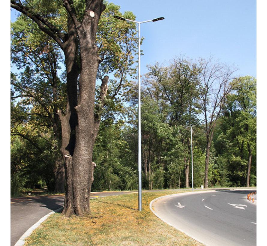 Lichtmast / Lantaarnpaal 6 meter - inclusief anker - 24 jaar garantie corrosievrij - met twee armen