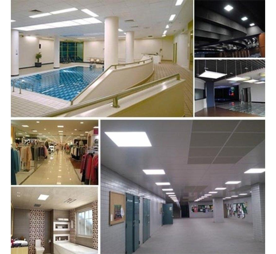 LED Paneel 60 x 60 cm 36W - Flikkervrij - 3000K Warm Wit - Vervangt 4X18W TL verlichting