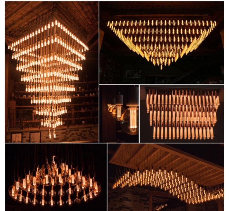 LED Kooldraadlamp E27 3-staps dimbaar ST64 Vintage - 5W Dimmen met Schakelaar en Geheugen