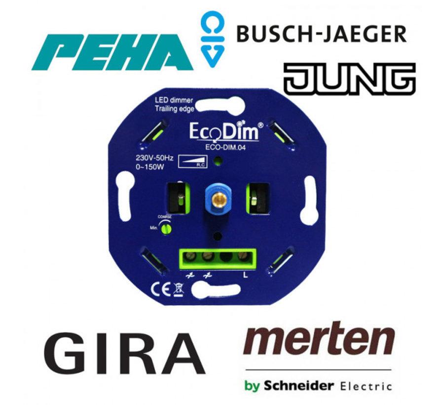 LED Inbouwdimmer - Universele Dimmer 0-150W Fase Afsnijding - Geschikt voor alle merken afdekmateriaal