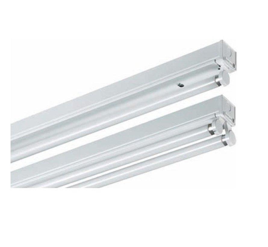 LED TL armatuur dubbel 120 cm opbouw - Kant en klaar voor twee led tl buizen