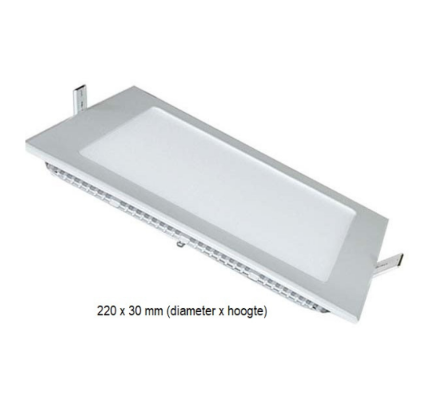 LED Slim Downlight 18W Vierkant