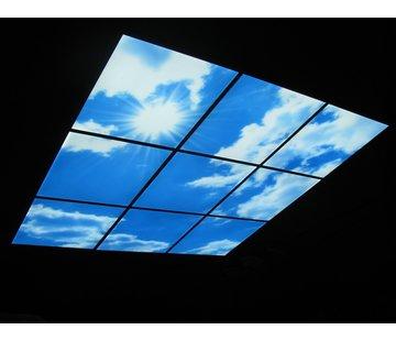 LED Wolkenplafond Acrylplaat 2mm - Inclusief LED Panelen en Afstandshouders - Set 4 Panelen 2 x 2