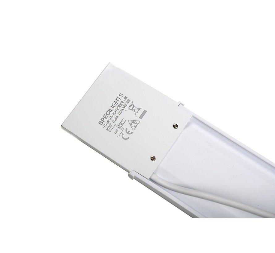 LED Batten Armatuur 60cm 20W 4000K/6000K met Bevestigingsmateriaal