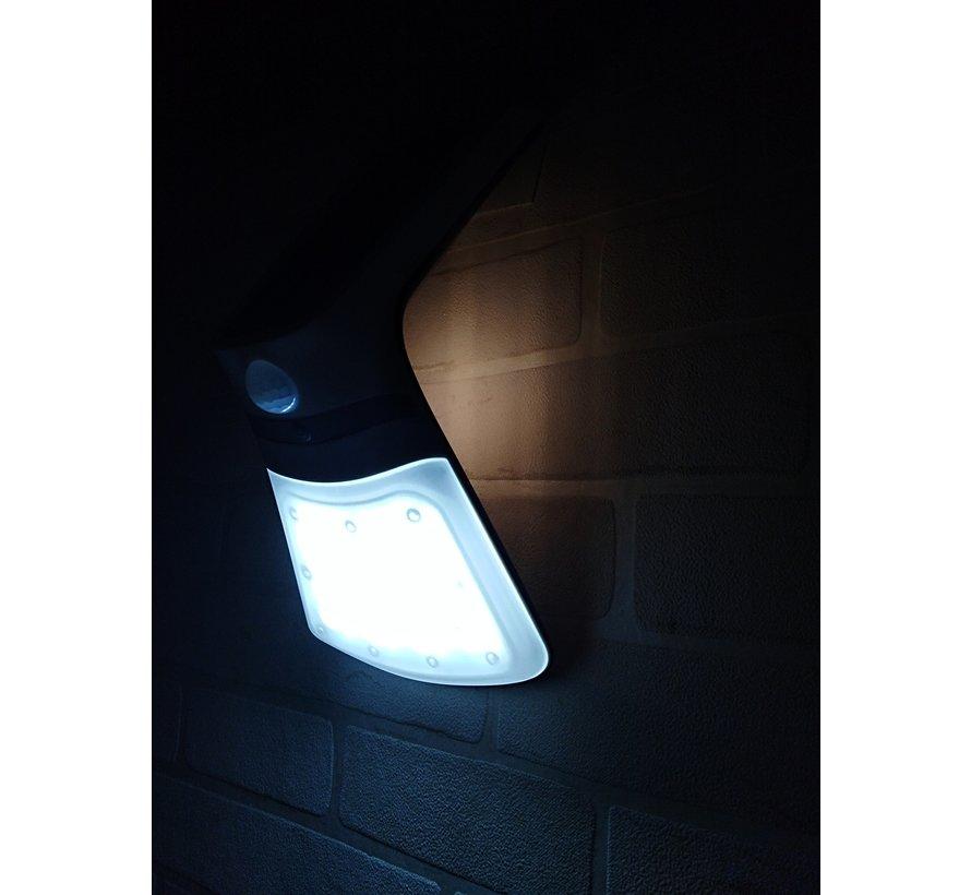 Solar LED Muurlamp met Bewegingssensor 2W - Buitenlamp op zonne-energie met sensor