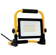 50W LED Bouwlamp met grondstatief - Werklamp met 3 meter kabel met stekker - Waterdicht IP65