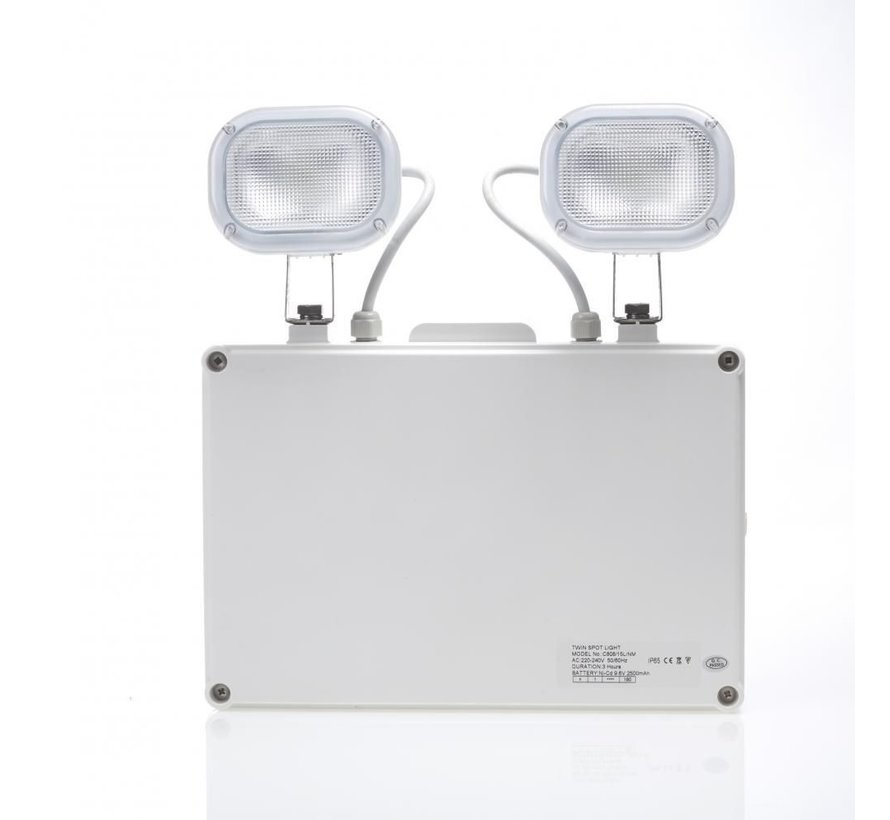 Twinspot Noodverlichting - 2 Spots IP65 - 2 x 3W LED Verlichting