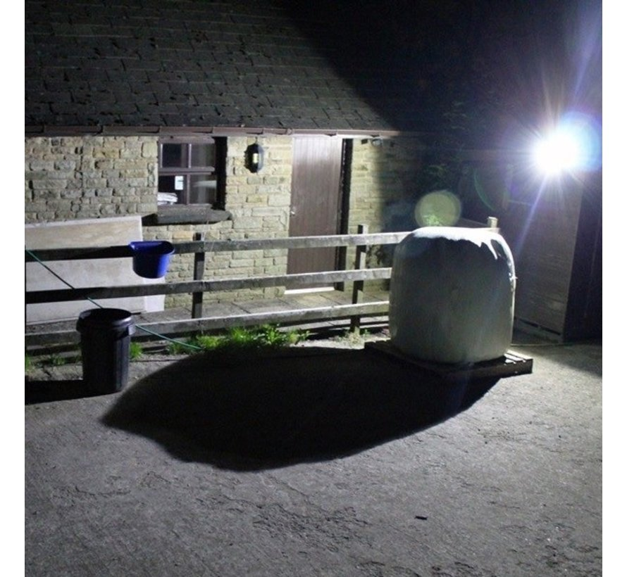 30W LED Bouwlamp Zwart - 3000 Lumen - 4000K - Waterdicht IP65 - 5 jaar garantie