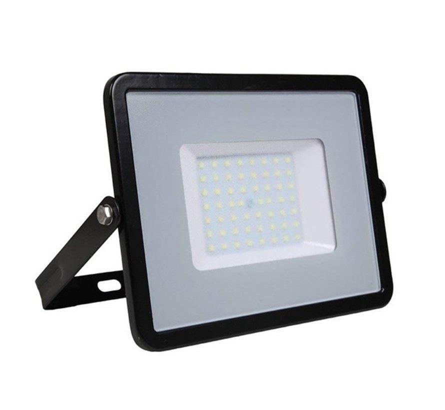 50W LED Bouwlamp Zwart  - 5000 Lumen - 6000K - Waterdicht IP65 - 5 jaar garantie