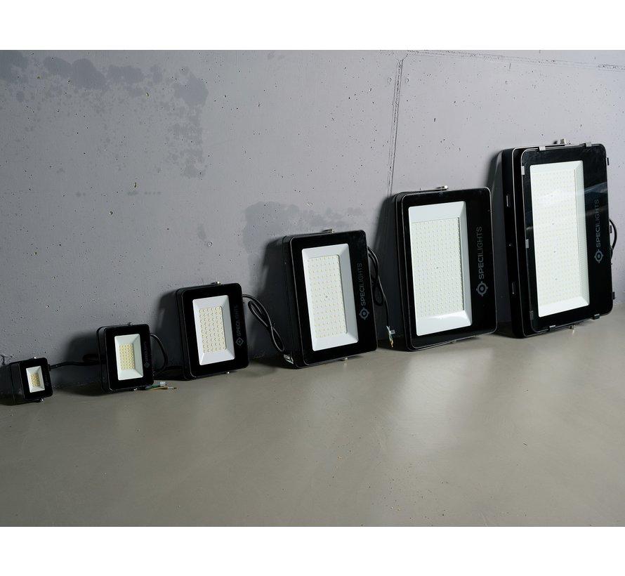50W LED Bouwlamp Zwart  - 5000 Lumen - 4000K - Waterdicht IP65 - 5 jaar garantie