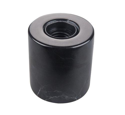 Specilights Marmeren Tafellamp Zwart - E27 Fitting - Ronde Vorm en Zwarte Kleur
