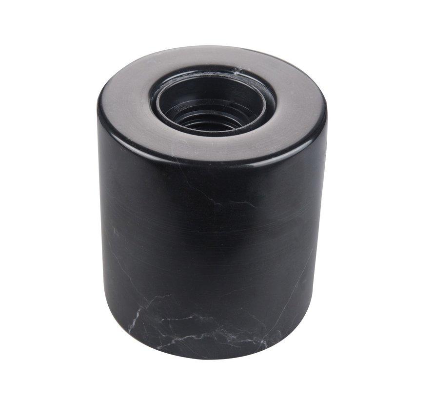 Marmeren Tafellamp Zwart - E27 Fitting - Ronde Vorm en Zwarte Kleur