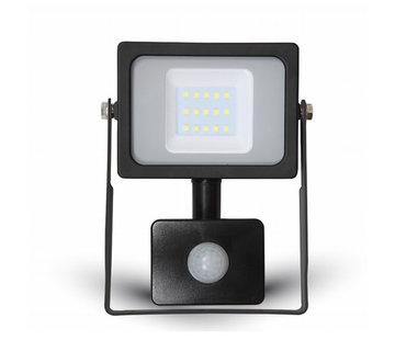 20W LED Bouwlamp met Sensor Zwart - 6000K