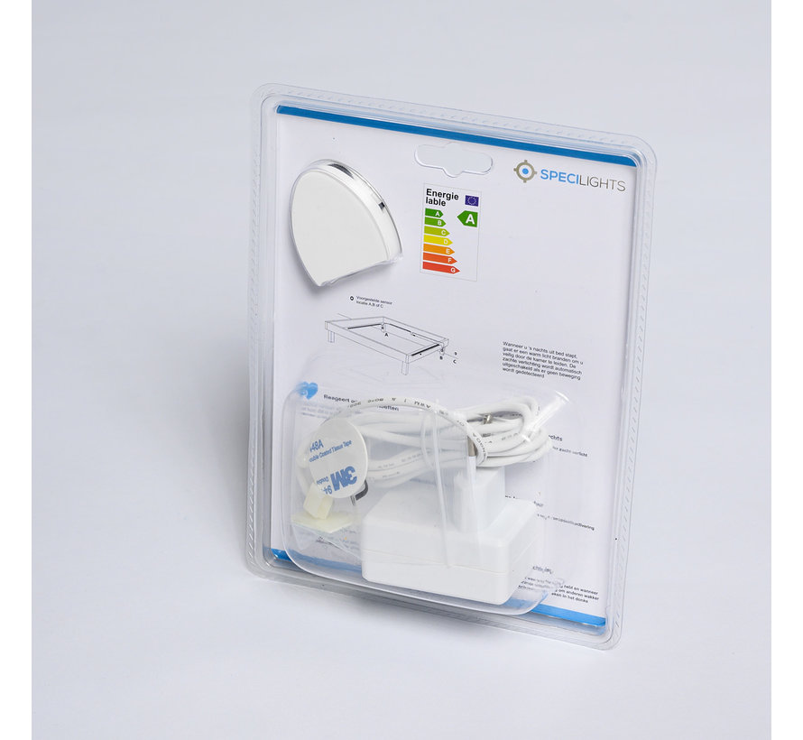 LED strip bedverlichting met sensor complete set warm wit licht 3000K - Geschikt voor 1 persoonsbed