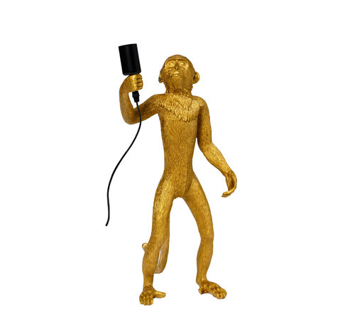 Tafellamp Aap - Gouden Aaplamp - Monkey Lamp Staand