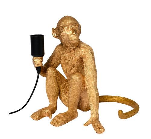 Specilights Tafellamp Aap - Gouden Aaplamp - Monkey Lamp Zittend
