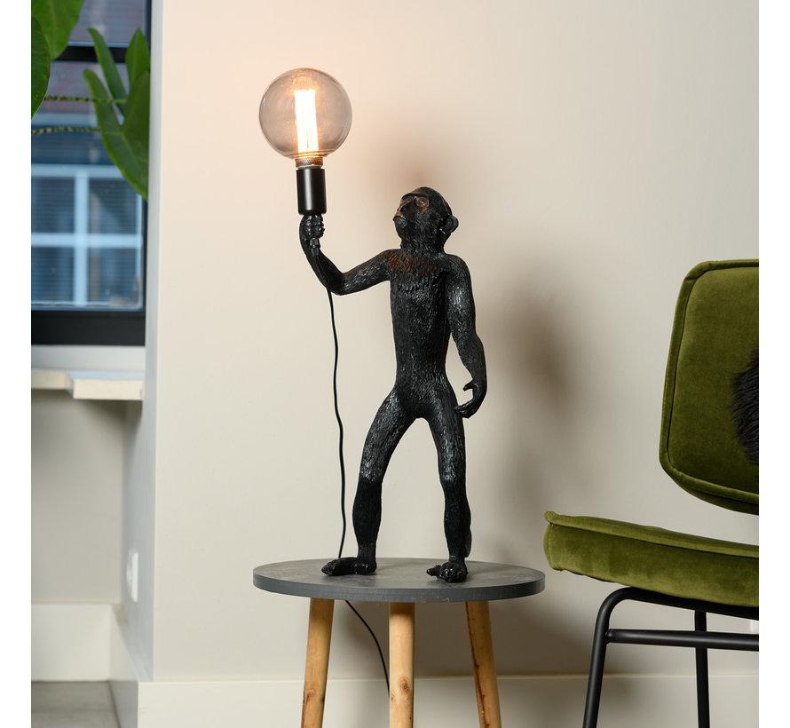 Tafellamp Aap - Zwarte Aaplamp - Monkey Lamp Staand