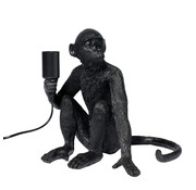 Specilights Tafellamp Aap - Zwarte Aaplamp - Monkey Lamp Zittend