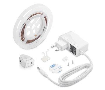 LED strip bedverlichting enkel - Inclusief sensor complete set warm wit licht 3000K - Geschikt voor 1 persoonsbed