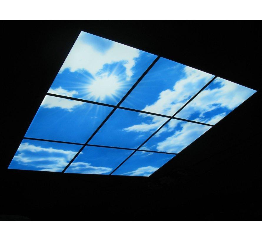 LED Wolkenplafond Acrylplaat 2mm - Set 4 Fotopanelen 2 x 2 Fotoplafond