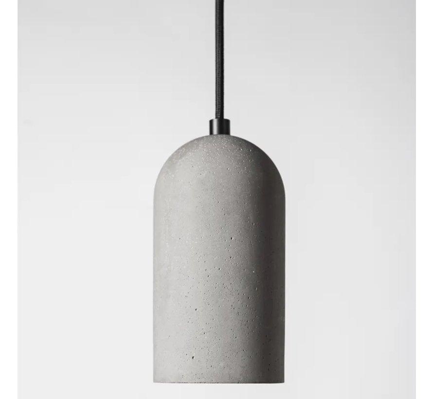 Pendel Beton Rond E27 - Cement fitting - Hanglamp met Strijkijzersnoer en Plafondkap