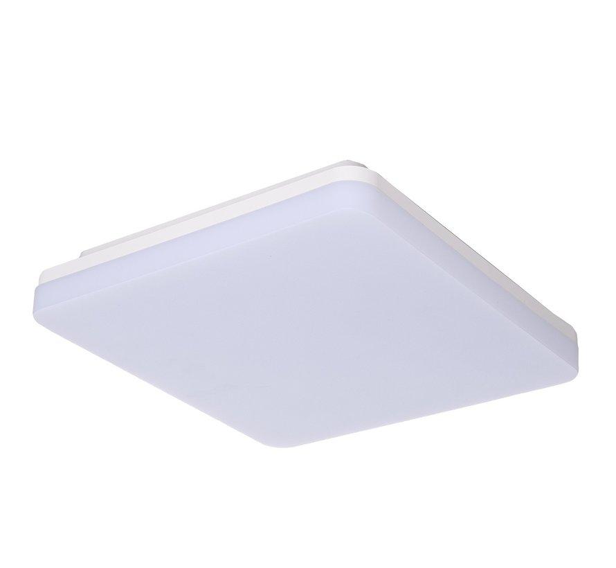 LED Plafondlamp Vierkant - CCT Instelbare Lichtkleur Plafonniere - Instelbaar wattage 24W / 18W / 15W
