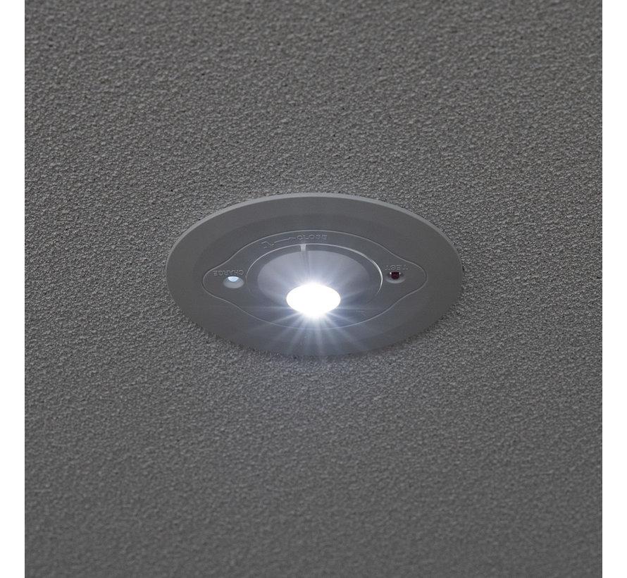LED Noodverlichting anti-paniek 3W Inbouwspot met ingebouwde accu - verwisselbare lens