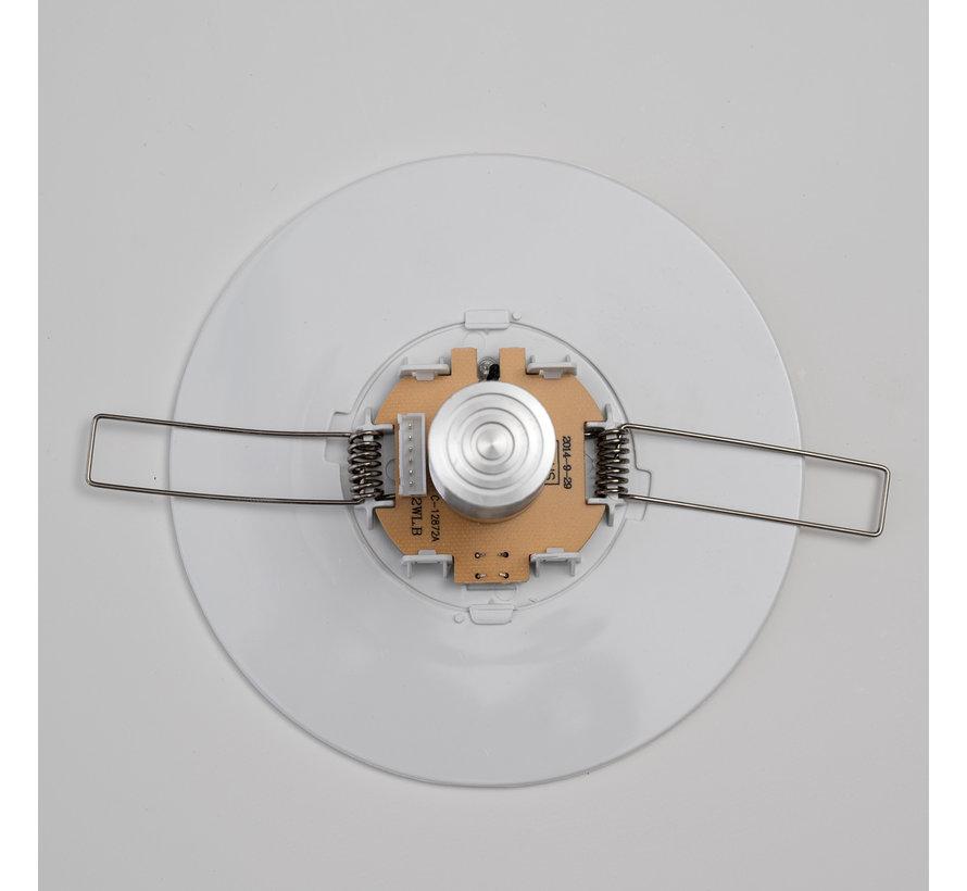 LED Noodverlichting 2W Inbouwspot met externe accu