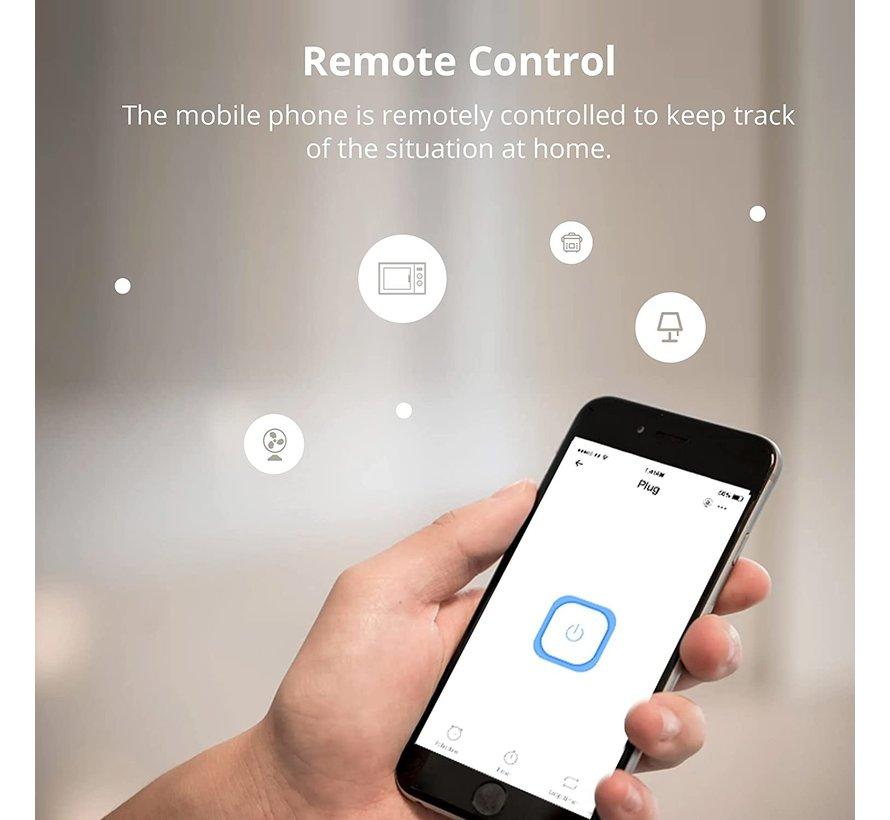 Slimme stekker - Smart plug - Wifi - Bediening via App - Werkt met Alexa/Google Home - Geen Hub nodig