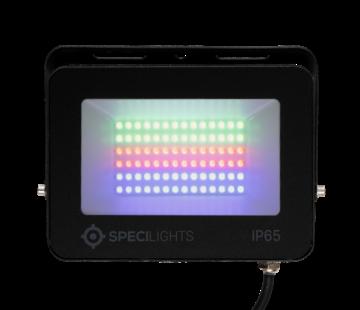 50W RGB LED Bouwlamp - Floodlight inclusief Remote - Waterdicht met 1,5 kabel en stekker