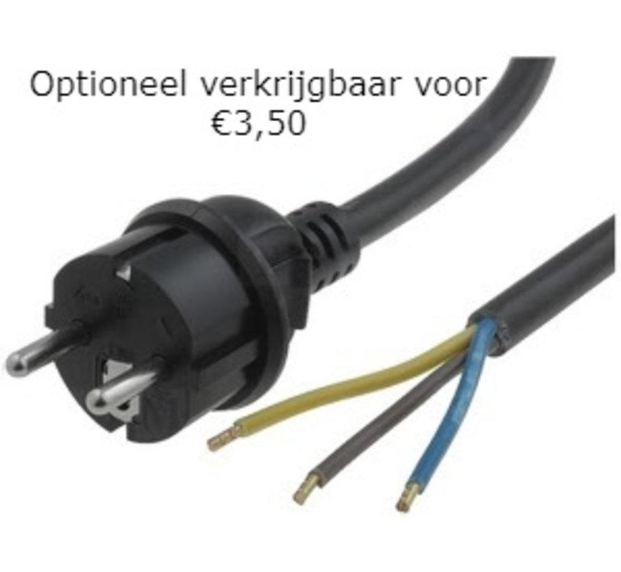 10W LED Bouwlamp met Sensor Zwart IP65 - 3000K - Ingebouwde IP68 connector