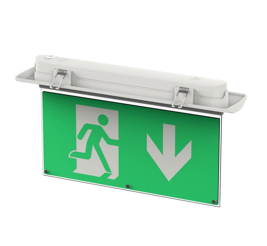 LED Noodverlichting Vluchtwegverlichting 5-in-1 plafond/wand/hangend/inbouw/opbouw