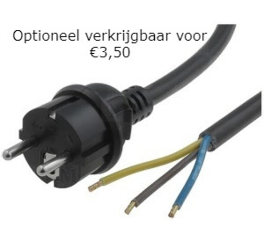 30W LED Bouwlamp met Sensor Zwart IP65 - 3000K - Ingebouwde IP68 connector