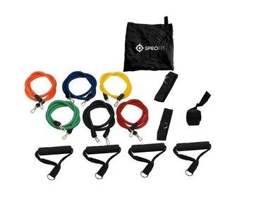Specifit Fitness Elastiek Set XL - Extra sterke weerstandselastieken en 2 sets handgrepen