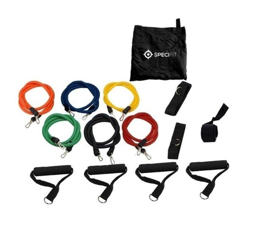 Fitness Elastiek Set XL - Extra sterke weerstandselastieken en 2 sets handgrepen