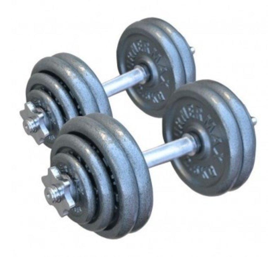 Halterset Gietijzer 26 kg totaal 2 stuks van 13 kg