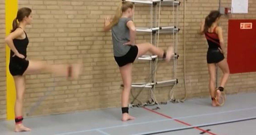 Fitness Elastiek gebruiken voor turnen