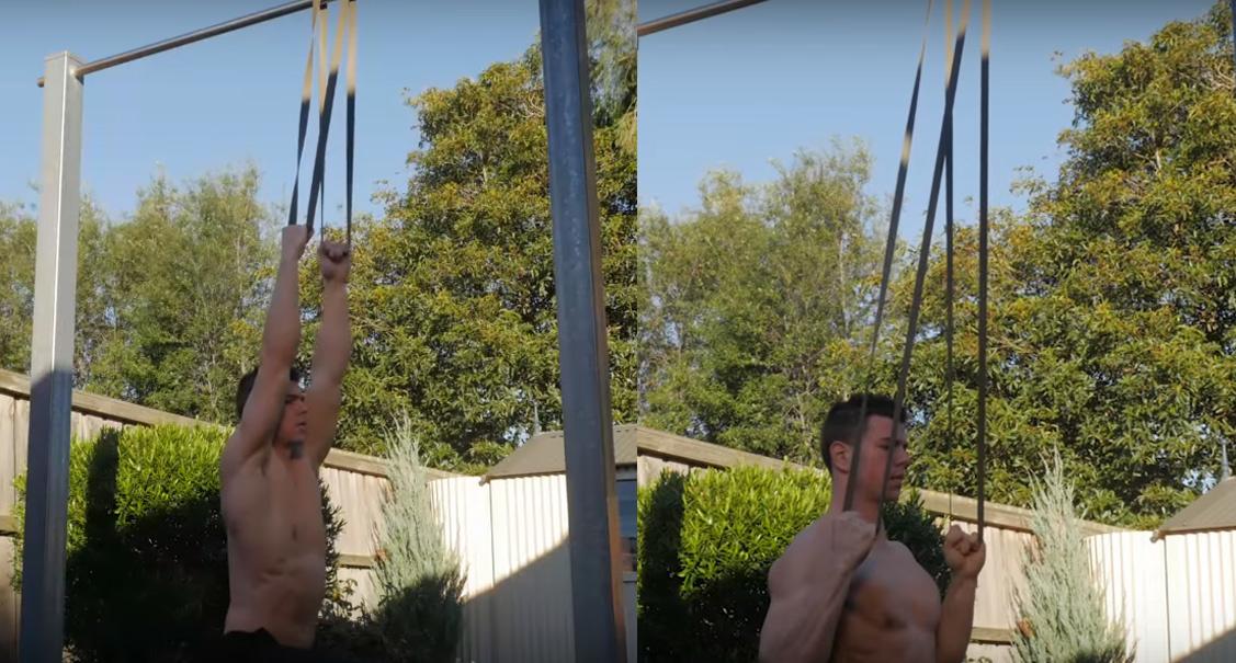 pulldown met fitness elastiek