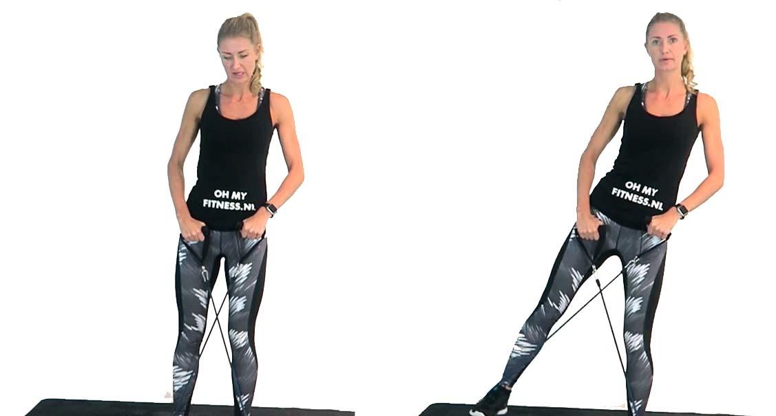 billen en heupen fitness elastiek