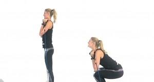 squats en billen fitness elastiek