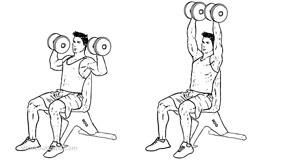 shoulder press zittend