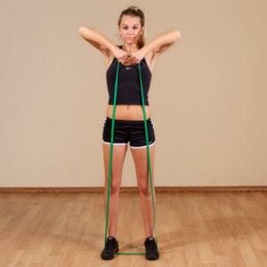 Upright row met weerstand elastiek van Thuisfitnessxl.nl