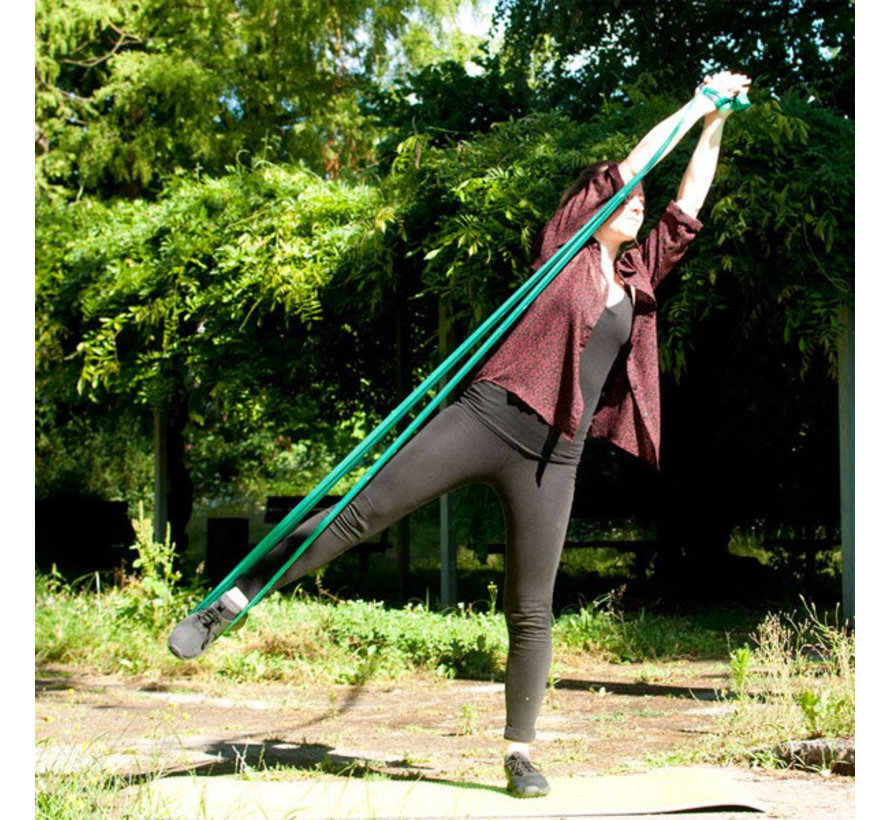 Weerstandsband medium - Yogaband groen