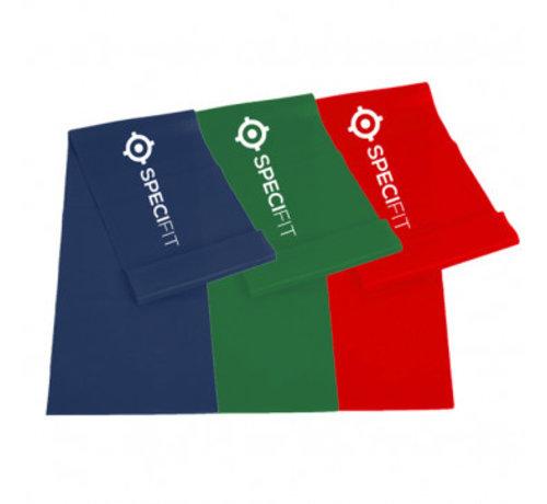 Complete set Yogabands - Weerstandsbanden rood, groen en blauw